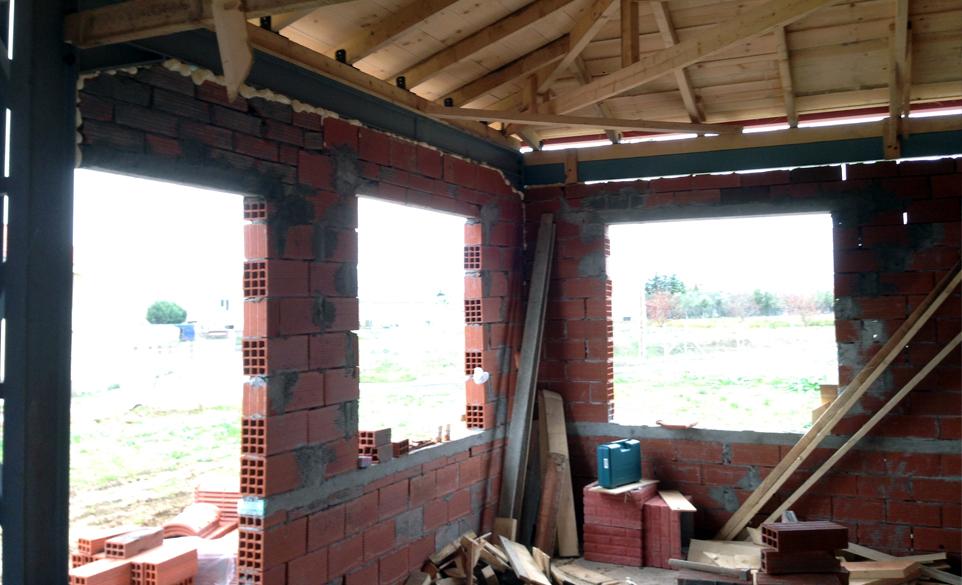 Μικτή κατασκευή οικίας Σέρρες